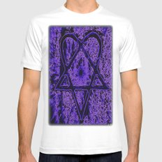 Violet Thoughts - Heartagram White Mens Fitted Tee SMALL