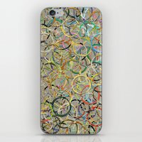 Rainbow Circles Collage iPhone & iPod Skin