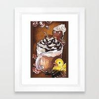 Gingerbread Bath Framed Art Print