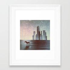 LEAVING CITY Framed Art Print