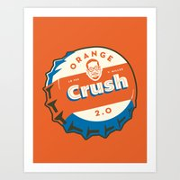 Denver's Orange Crush De… Art Print