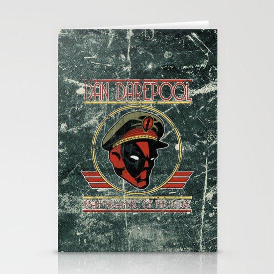 Dan Darepool: Insane Ninja-Merc of the Future Stationery Card