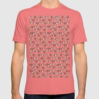 Cute Penguins Mens Fitted Tee Pomegranate SMALL