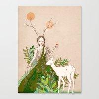 Mori Girl Canvas Print
