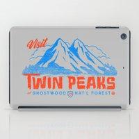 Visit Twin Peaks (orange) iPad Case