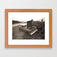 1957 Vauxhall Victor - dead cars series 102 Framed Art Print
