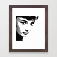 Audrey Hepburn Close Up Framed Art Print