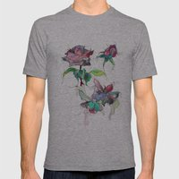 Rose. Mens Fitted Tee Athletic Grey SMALL