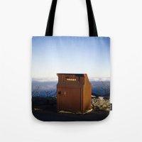 Miles high trash can Tote Bag