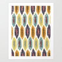 Ikat Pattern Art Print