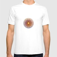 Asterisk Mandala Mens Fitted Tee White SMALL