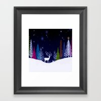 Snowy Night Framed Art Print