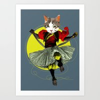 Kitty Is A Bad-ass Art Print