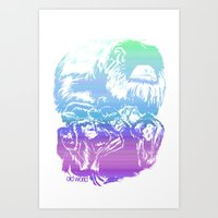 Monkeys In Living Color Art Print