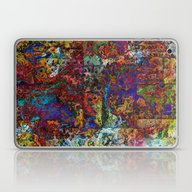 Abstract In Red & Blue Laptop & iPad Skin