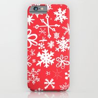 iPhone & iPod Case featuring Snowflakes by Ben Weeks