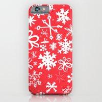 Snowflakes iPhone 6 Slim Case