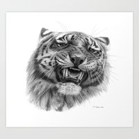 Tiger Roar  G082 Art Print