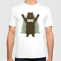 Bear Hug? Mens Fitted Tee White SMALL
