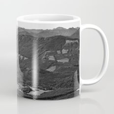 River in the Mountains B&W Mug