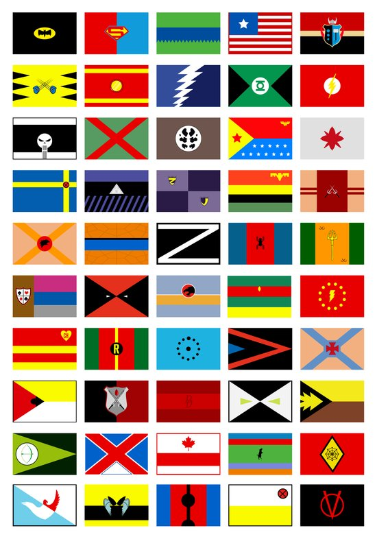 SH as flags Art Print