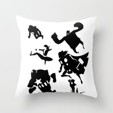 The Avengers Minimal Black and White Throw Pillow