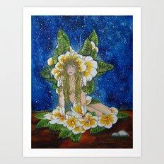 Fairy of the Plumeria Flower Art Print