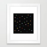 Pin Points On Back Framed Art Print