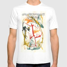 Contemporary Politics SMALL Mens Fitted Tee White