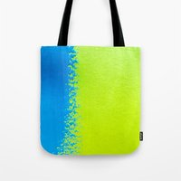 Blue Green Paint Tote Bag