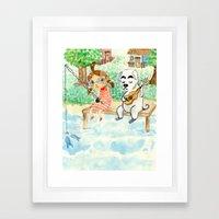 Animal Crossing tribute Framed Art Print
