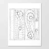 Original Sketch Series - Erosion Patterning Canvas Print