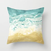 Minimalist Shore - Beach… Throw Pillow
