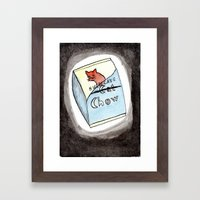 Hurricane Chow Framed Art Print