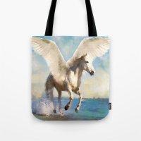 Pegasus Taking Flight Tote Bag