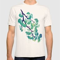 O Ginkgo (in Green) Mens Fitted Tee Natural SMALL