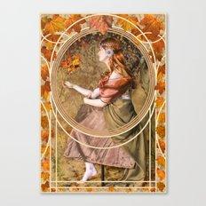Falling Leaves Canvas Print