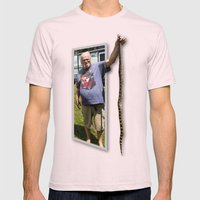The Snake Dude Mens Fitted Tee Light Pink SMALL