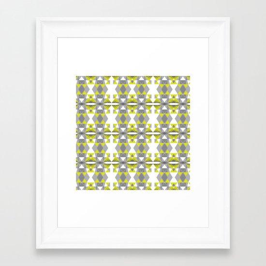 Neon threads Framed Art Print