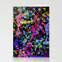 Paint Splatter 1 - Black Stationery Cards