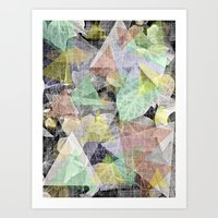 Ivy light and marble Art Print