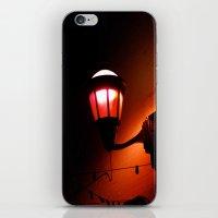 Red Streetlight iPhone & iPod Skin