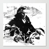 Beethoven Motorcycle Canvas Print