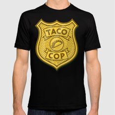 Taco Cop Black Mens Fitted Tee SMALL