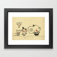 Walking With You. Forest… Framed Art Print