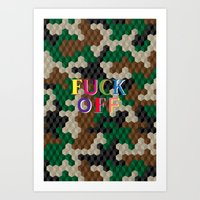 CUBOUFLAGE FOFF Art Print
