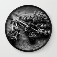 Lavender No. 2 (Black & White) Wall Clock