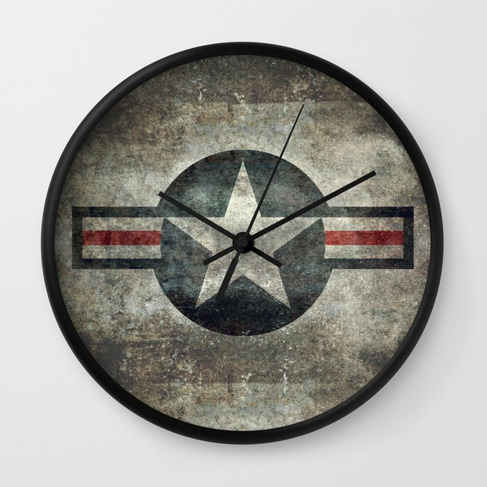 Stylized usaf star symbol roundel 1 wall clock by for Decor 6 air force