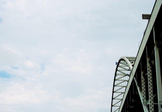 Bridge meet Sky Art Print