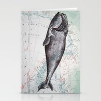Whale In Antarctica Stationery Cards